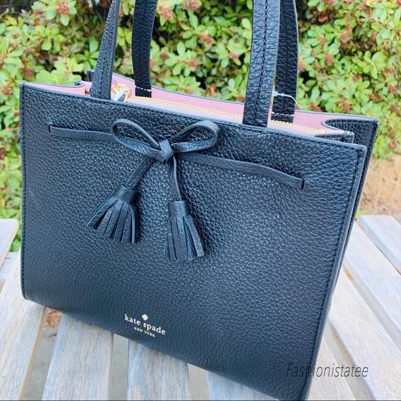 kate spade Handbags - Kate spade small Hayes satchel black crossbody